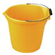 INDUSTRIAL PLASTIC BUCKET YELLOW(3 GALLON)