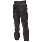BLACK HOLSTER TROUSERS