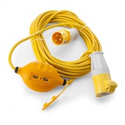14MTR 110V EXTENTION LEAD COMES WITH USB PORTS