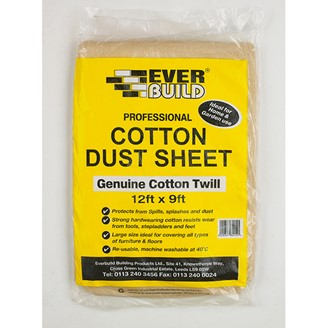 COTTON DUST SHEETS 12' X 9'