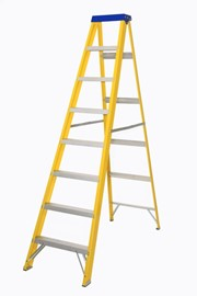 10 TRED FIBREGLASS STEPLADDER