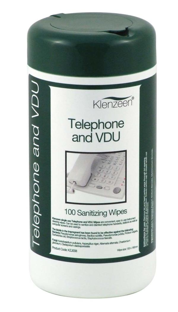 KLENZEEN TELEPHONE & VDU WIPES (100'S)