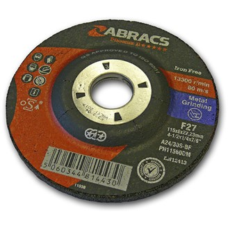 115MM X 6.0MM X 22MM  DPC METAL GRINDING DISC