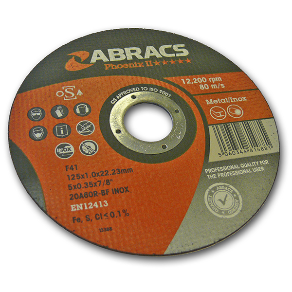 300MM X 3.5MM X 20MM  FLAT METAL CUTTING DISC