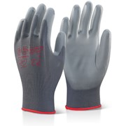 PU COATED GLOVES GREY