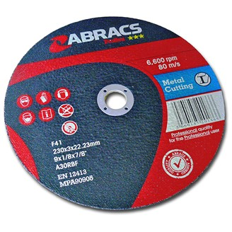 230MM X 3.0MM X 22MM  DPC METAL CUTTING DISC