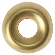 SCREW CUP WASHERS POLISHED BRASS NO. 10 (BAG 100)