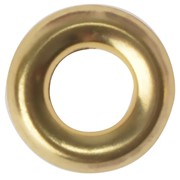 SCREW CUP WASHERS POLISHED BRASS NO. 8 (BAG 200)