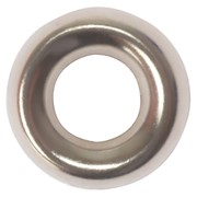 SCREW CUP WASHERS BRASS NICKEL PLATED NO. 8 (BAG 200)