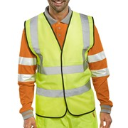 HI-VIS WAISTCOAT COMPLETE WITH SCREEN PRINTING