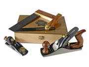 4 PIECE WOODWORKING PLANE AND SQUARE SET