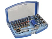 42 PIECE RATCHETING BIT AND SOCKET SET
