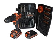 BLACK & DECKER 18V COMBI DRILL C/W 2 X 1.5AH BATTERIES