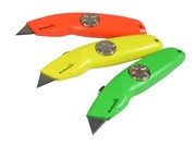 HI-VIZ RETRACTABLE KNIFE C/W 10 BLADES