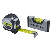 KOMELON POWERBLADE 5MT TAPE WITH LEVEL BOTH SILVER